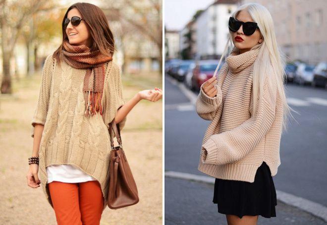 свитер в стиле оверсайз