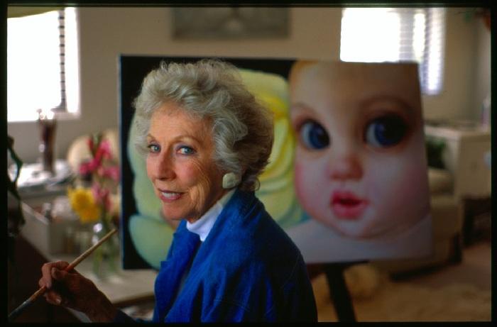Маргарет Кин и ее работы. ¦ Фото: liveinternet.ru.
