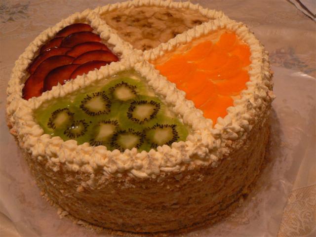 торты фруктовые рецепты с фото