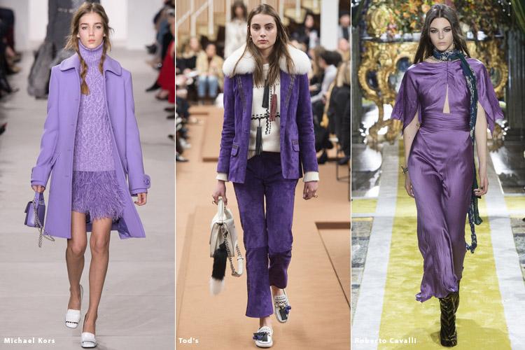 Модные тенденции фиолетового цвета