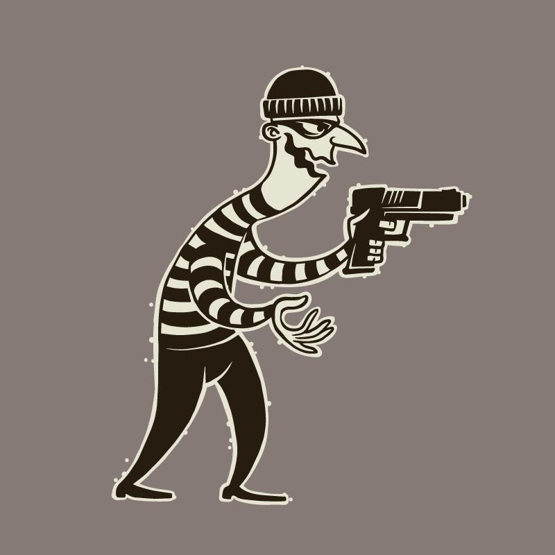Остросюжетный анекдот про ограбление банка ихраброго директора
