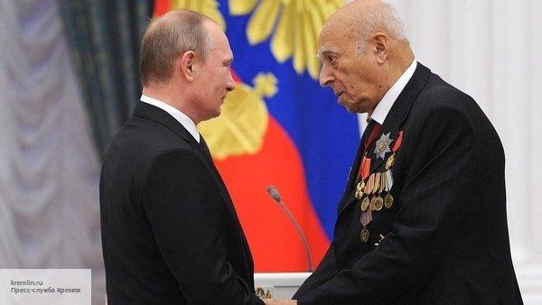 Владимир Путин назвал Этуша «подлинной легендой»