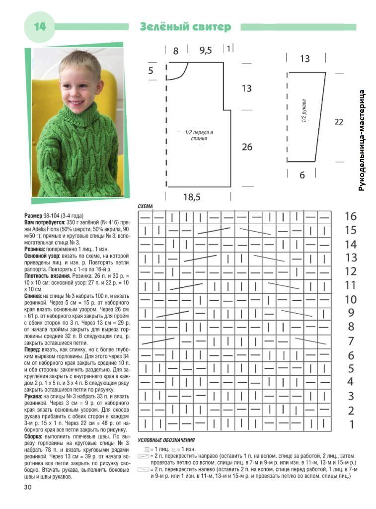 Вязание кофт для мальчиков спицами схемы 52