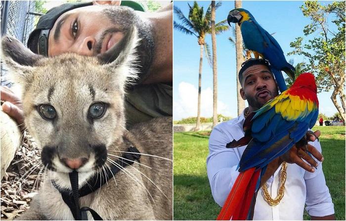 Парень работает в зоопарке и выкладывает забавные фото со своими подопечными