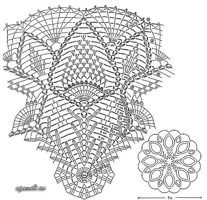 Архив рубрики «Листья ажурные спицами» с сайта. - Pinterest 18