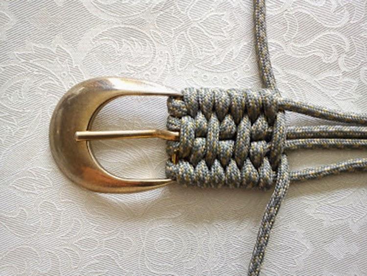 Как сделать плетеный ремень