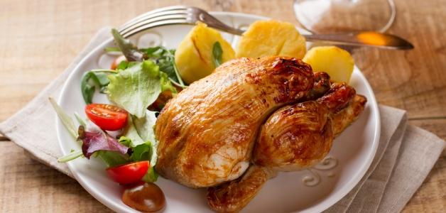 Цыпленок корнишон в духовке в рукаве