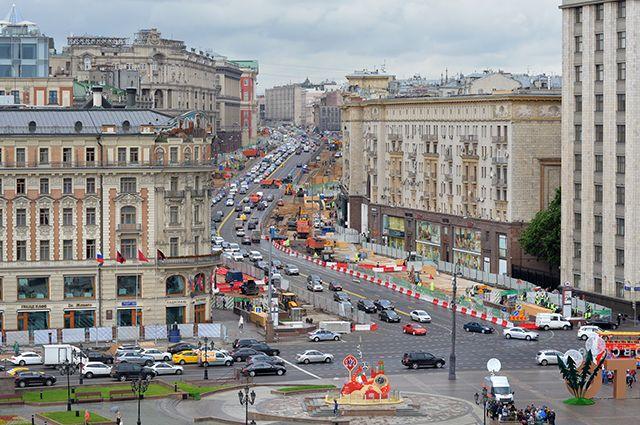В столице завершается благоустройство площади Тверской Заставы