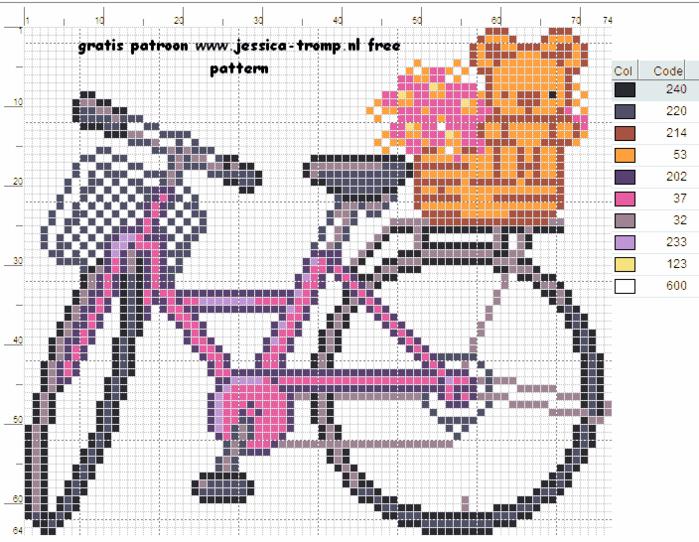 Вышиваем велосипед. Идеи со схемами (2) (700x542, 344Kb)