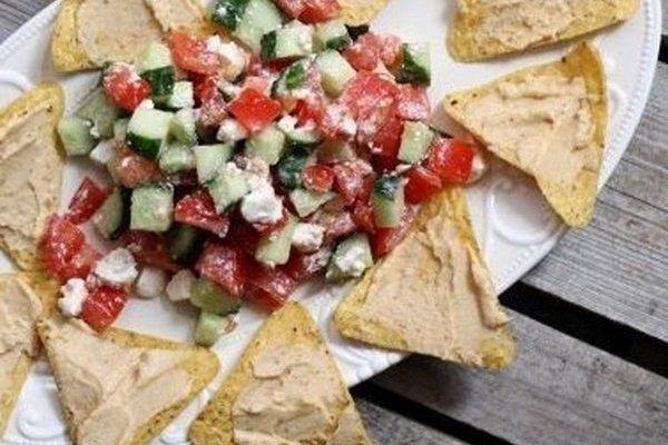 Греческий Начос с салатом