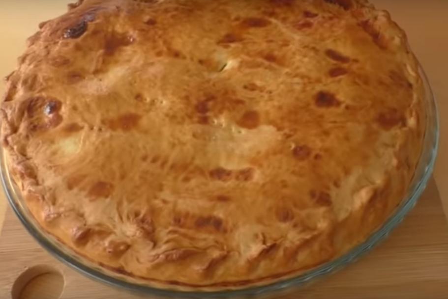 Пирог с картошкой, мясо и...заварным кремом