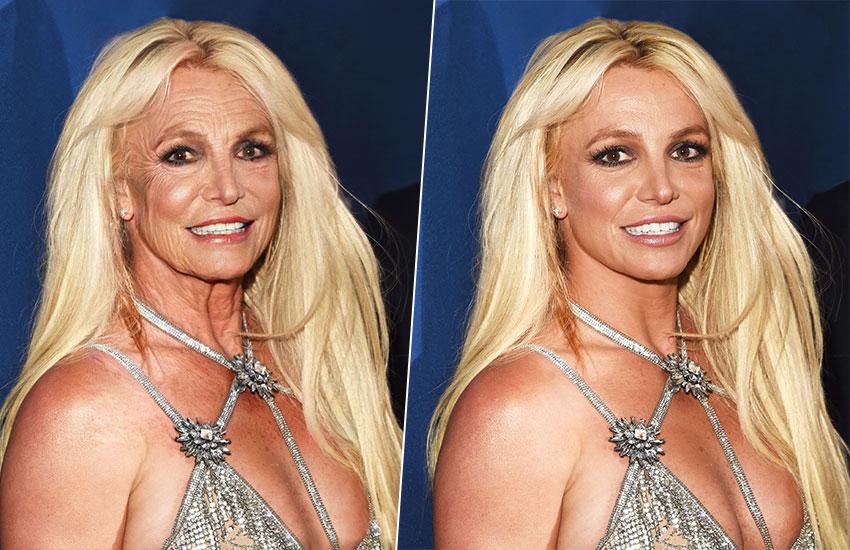 FaceApp старение убрать морщины старая Бритни Спирс