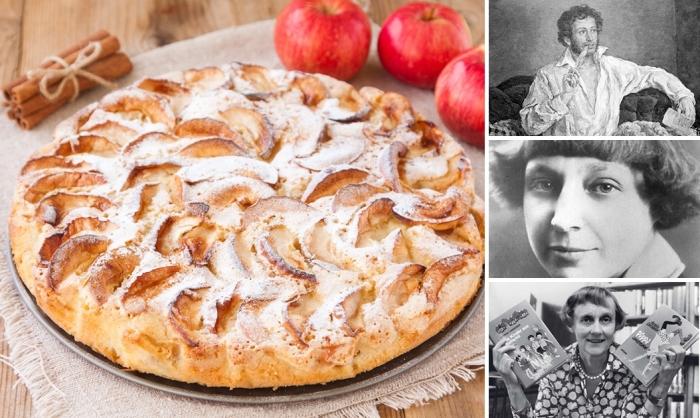 Яблочный пирог - любимый десерт литераторов: три оригинальных рецепта
