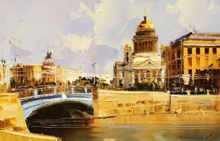 Художник Наиль Галимов. Городские пейзажи