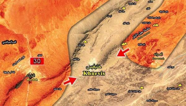 Войска САР при поддержке ВКС РФ прорвали линию обороны ИГИЛ в провинции Хомс