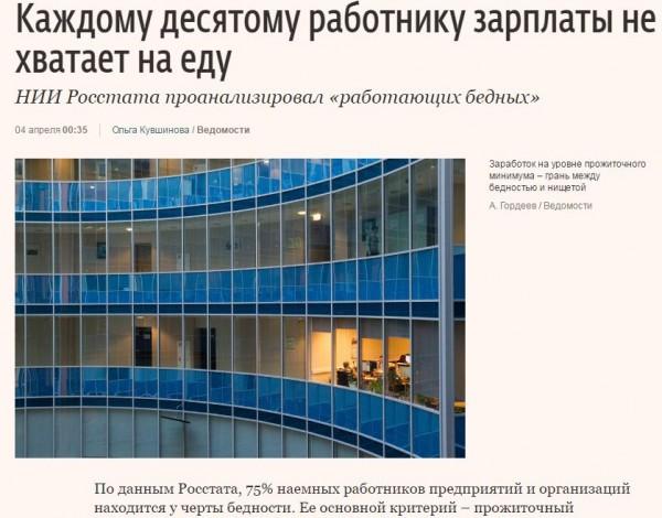 О зарплатах наемным работникам в России в 2016-м году.