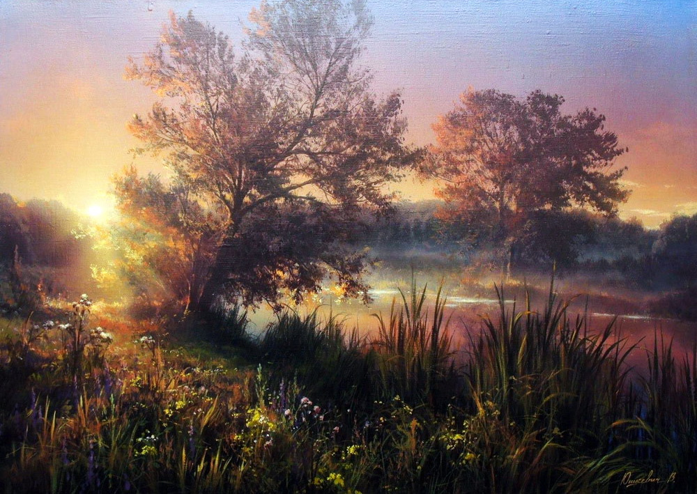 Любовь к родной природе -- завораживающие  пейзажи Виктора Юшкевича