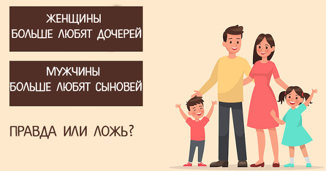 Учёные полагают, что матери больше любят своих дочерей, а отцы — своих сыновей