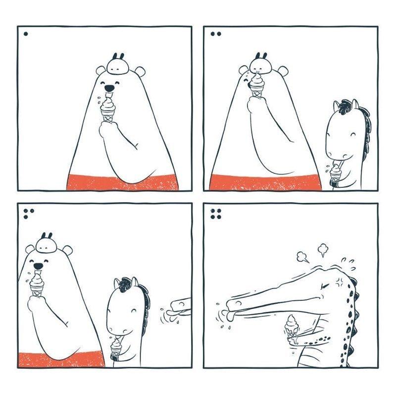 «Мороженое» забавно, комиксы, подборка, рисунки, юмор