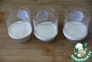 Йогуртовое желе на стевии с клубникой Йогурт