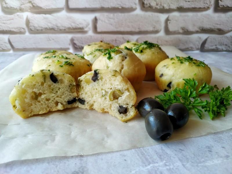 Закусочные булочки с оливками, пеку вместо хлеба!