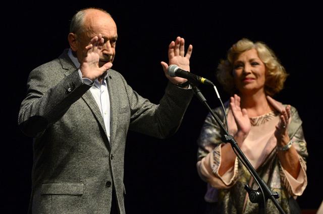 Валентин Гафт c женой актрисой Ольгой Остроумовой.