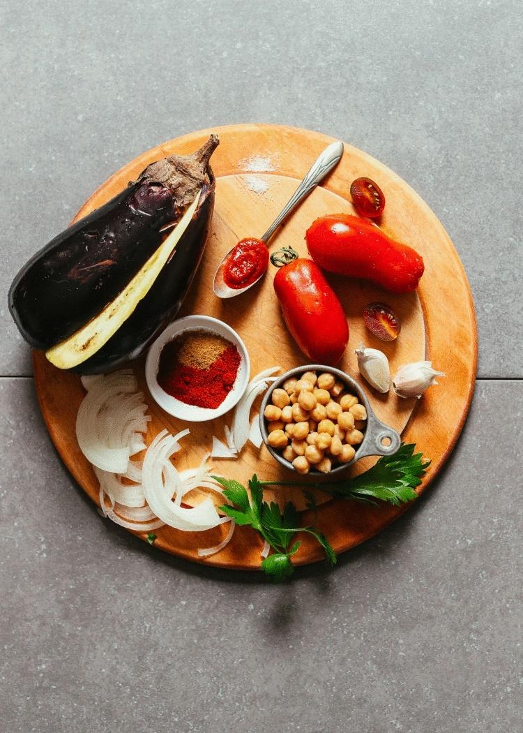Острое рагу из баклажана по-мароккански