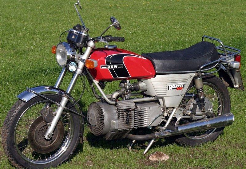 DKW Hercules W-2000 Rotary - мотоцикл с роторным мотором Ванкеля