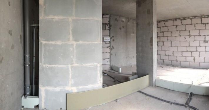 Уютная квартира-студия в оливковых тонах