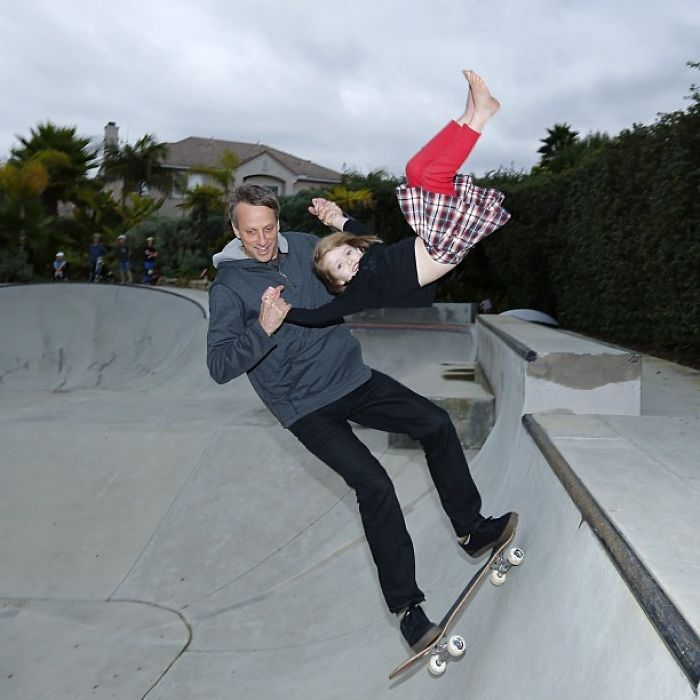 Tony Hawk Shares An Adorable Father-Daughter Moment Of Him Teaching His Girl To Skate