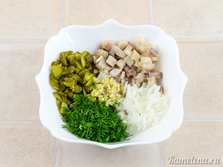 Картофель «Решти» с селедочным соусом — 8 шаг