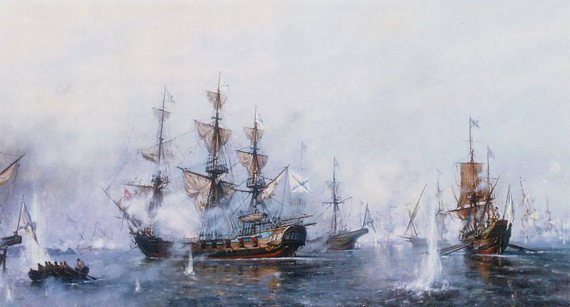 Славная победа русского флота при Роченсальме