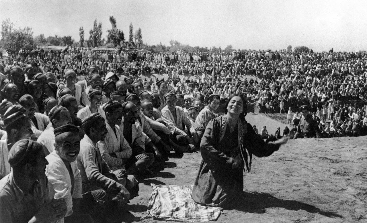 1939.Народная стройка Большого Ферганского канала.Узбекистан