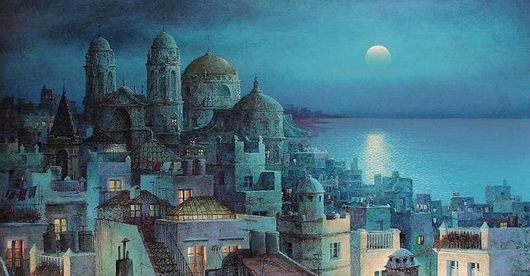 Художник Luis Romero. Сказка под небом Испании