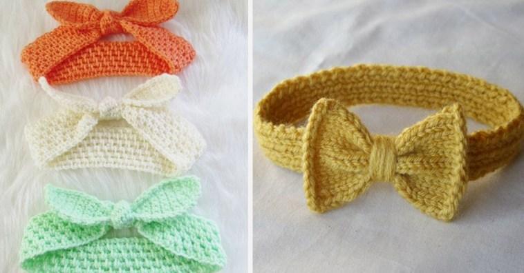 Вязаные повязки на голову для девочек: идеи и мастер-классы