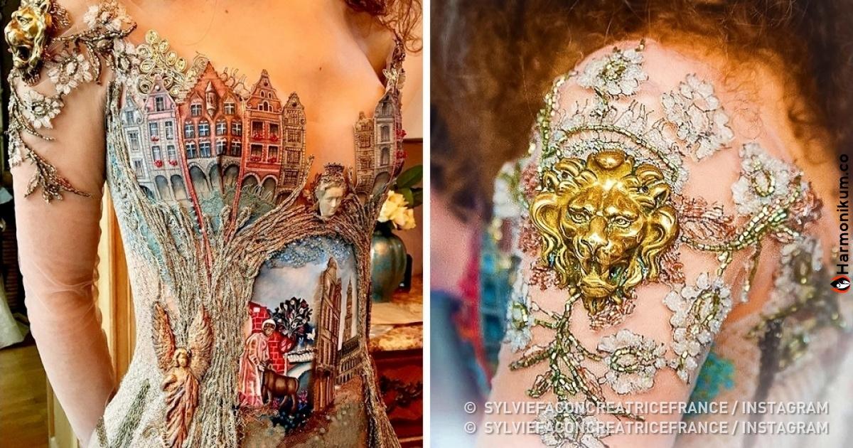 Дизайнер из Франции шьет нереальные платья, которые будто сходят со страниц волшебных сказок
