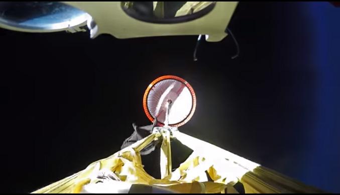 NASA испытало сверхзвуковой парашют для посадки на Марсе