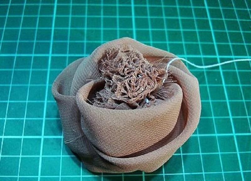 цветы из ткани как сделать