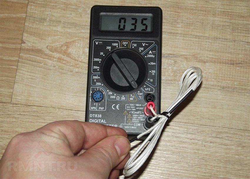 том, как измерять температуру мультиметром Детское термобелье