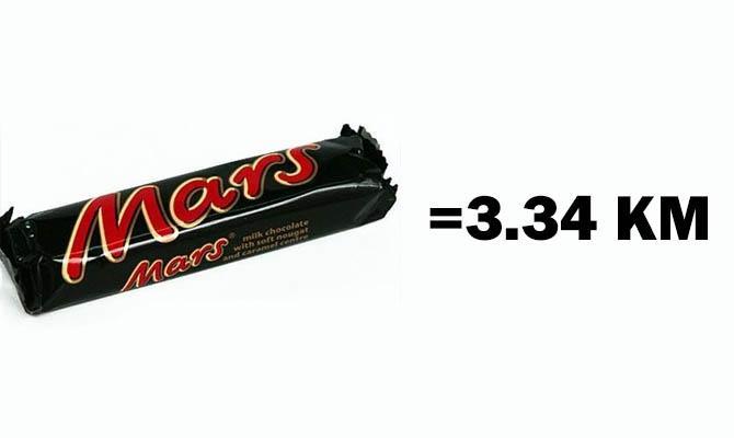Одна плитка шоколада Марс