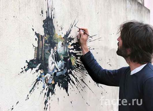 Удивительный мир искусства стрит-арт от испанского художника Pejac
