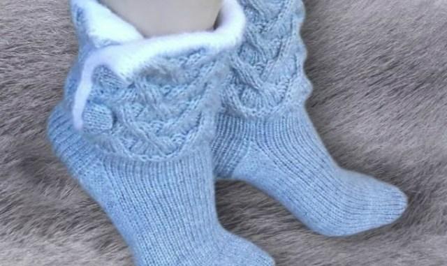 Очень красивые носочки. идеи для любителей рукоделия…тепло и красиво….