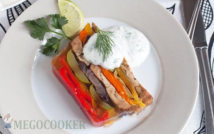 Террин из запечённых овощей, фото рецепт