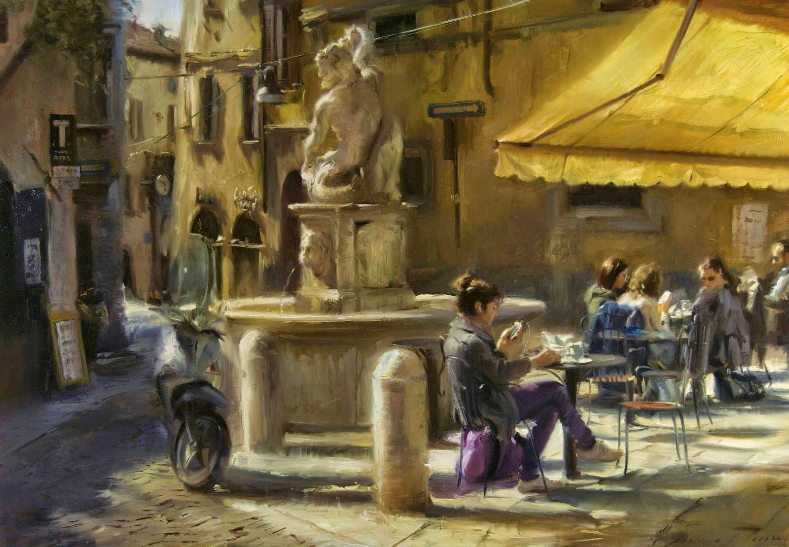 «Мне снился город. Он пах свободой, горячим кофе, прохладным ливнем…» Итальянский художник Simon Pasini