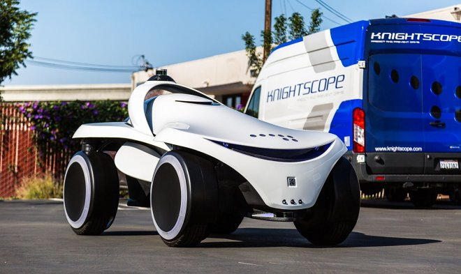 Арсенал роботов-охранников Knightscope пополнился вездеходной моделью K7