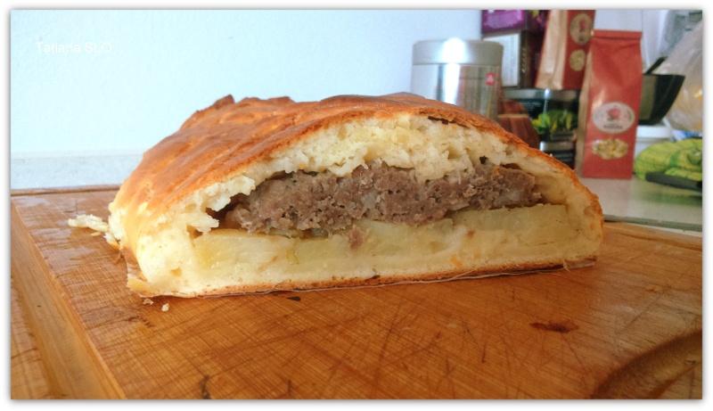 """Картофельно-мясной пирог на тесте из сыра """"PHILADELPHIA"""""""