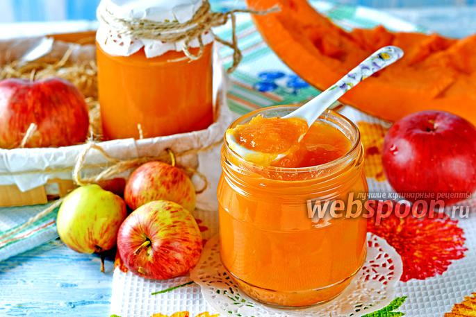 Пюре из тыквы и яблок на зиму для детей