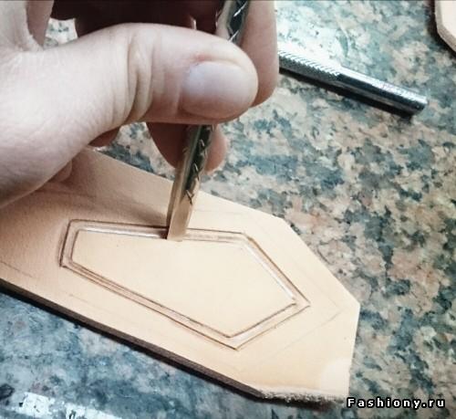 Мастер-класс: колье из кожи своими руками