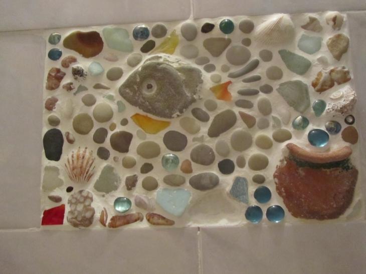 Лепнина и мозаика или фактурная  стена своими руками