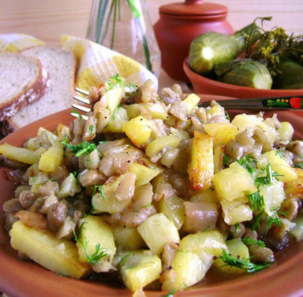 картофель с баклажанами в духовке